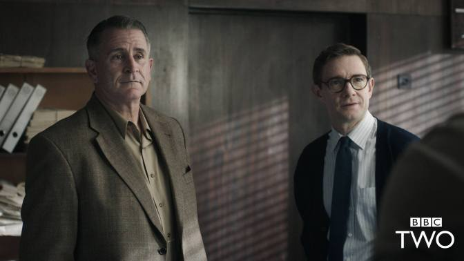 The Eichmann Show in production at BBC Two, Martin Freeman starring