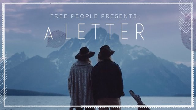 Free People Presents: A Letter ( A Stunning Short Film)