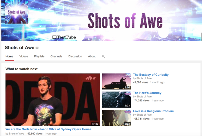 "Web Series You Must Watch: ""Shots of Awe"" by Jason Silva"